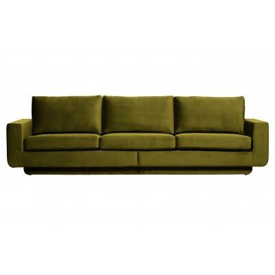 Trivietė sofa Fame, velvetas (alyvuogių žalia)
