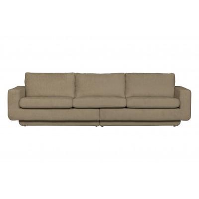 Trivietė sofa Fame, velvetas (pilkšvai smėlinė)