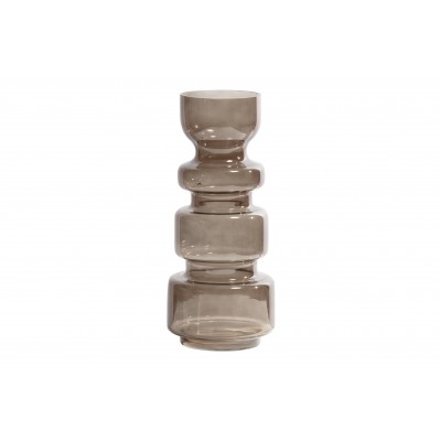 Stiklinė vaza Expressive, 37x15 cm skersm. (kavos atspalvio)