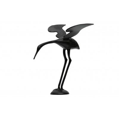 Paukščio figūrėlė Snap Wings, metalas (juoda)