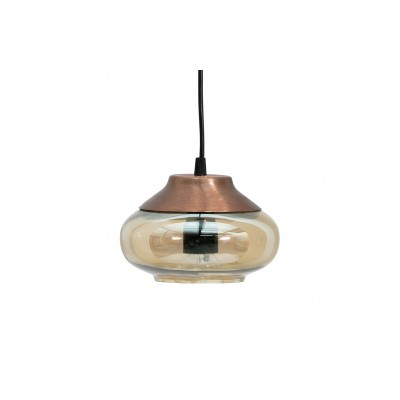 Pakabinamas šviestuvas Sultry, 17 cm skersm., šveistas paviršius (ruda)