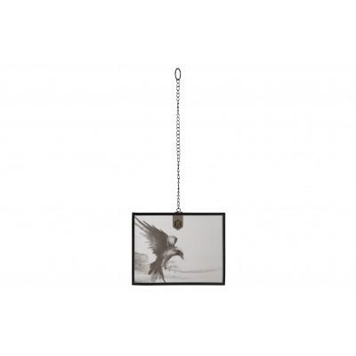 Metalinis nuotraukos rėmelis su grandine Xpose, didelis (juoda)
