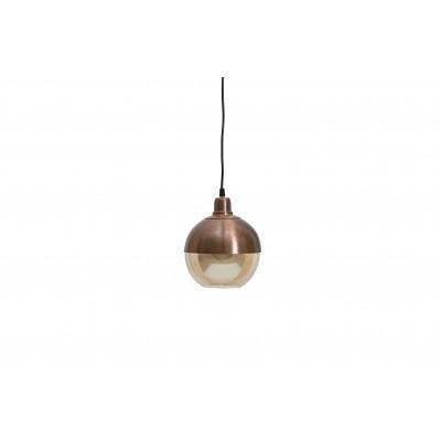 Pakabinamas šviestuvas Split, 18 cm skersm., šveistas paviršius (ruda)