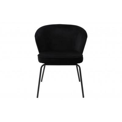 Valgomojo kėdė Admit, velvetas (juoda), 2 vnt.