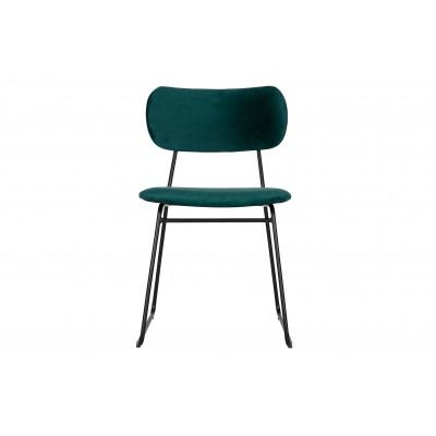Valgomojo kėdė Wimple, velvetas (žydra), 2 vnt.