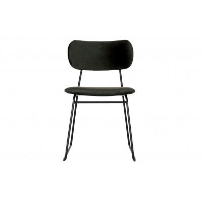 Valgomojo kėdė Wimple, velvetas (juoda), 2 vnt.