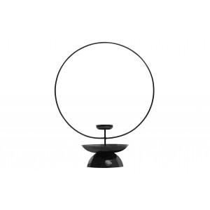 Metalinė žvakidė Level, 43 cm (juoda)