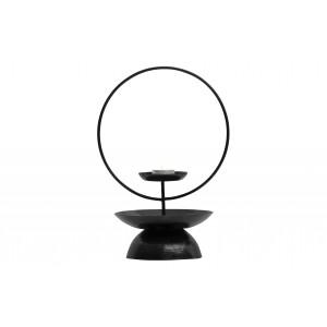Metalinė žvakidė Level, 31 cm (juoda)