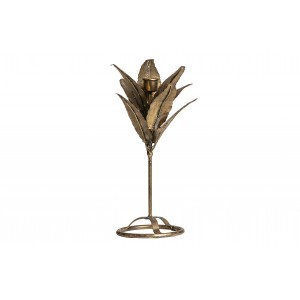 Metalinė žvakidė Fizz, 32 cm (sendinto žalvario)