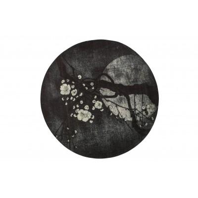 Kilimas Night Blossom, 150 cm skersm. (juoda)