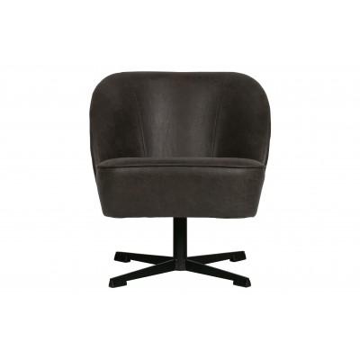 Sukamasis fotelis Vogue, odinis (juoda)