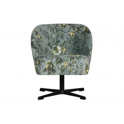 Sukamasis fotelis Vogue, velvetas (pilka su aguonų raštu)
