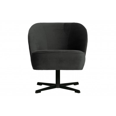 Sukamasis fotelis Vogue, velvetas (juoda)