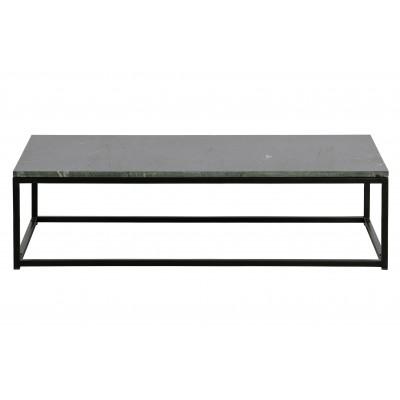 Kavos staliukas Mellow, 32x120x60 cm, marmuras (juoda)