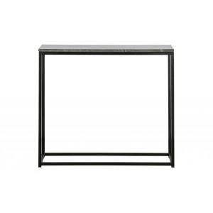 Konsolinis staliukas Mellow, 85x90x30 cm, marmuras (juoda)