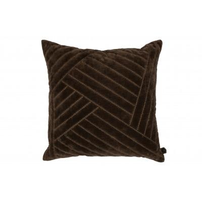 Pagalvėlė Stroke, 50x50 cm, velvetas (kavos atspalvio)