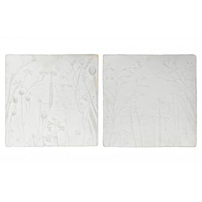 2 sienos dekoravimo plokštės (gipso balta)