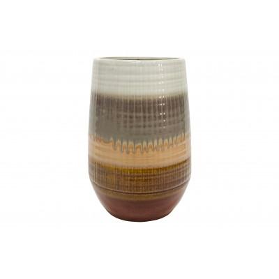 Keraminė vaza Lava, 28x19 cm skersm. (kaštoninė)