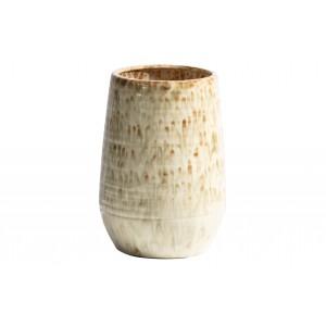 Keraminė vaza Lava, 28x19 cm skersm. (pilkšvai ruda)