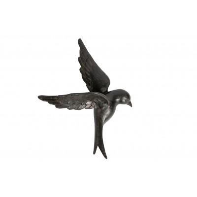 Sienos dekoracija-paukštis Avaler XL, kaučiukas (juoda)