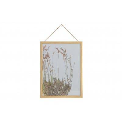Medinis nuotraukos rėmelis Potpourri, 40x30 cm (natūrali su gėlių paveikslėliu), 2 vnt.