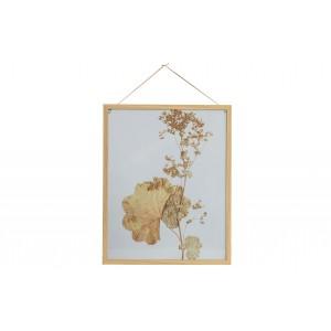 Medinis nuotraukos rėmelis Potpourri, 50x40 cm (natūrali su gėlių paveikslėliu), 2 vnt.
