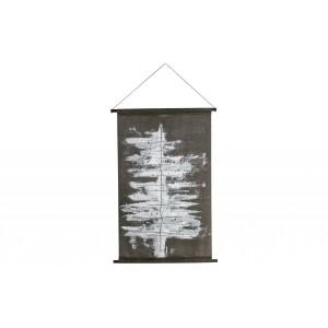 Plakatas Winter Tree, velvetas (juoda / balta)