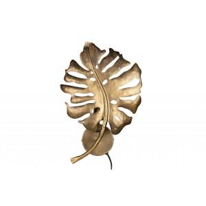 Metalinis sieninis šviestuvas Leaf (sendinto žalvario)