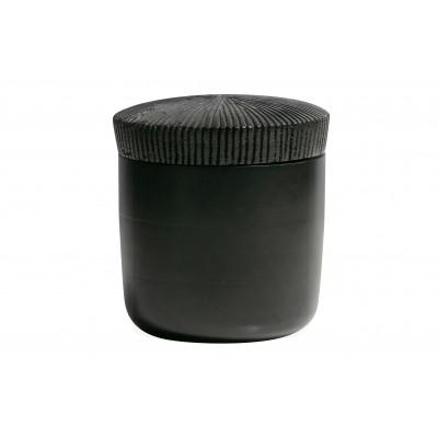Medinis juodas indas Jar, 16x15 cm skersm.