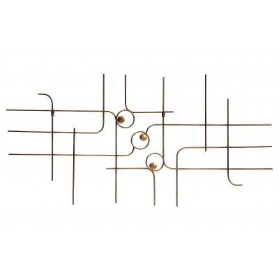Metalinė sienos dekoracija Symphony (sendinto žalvario)