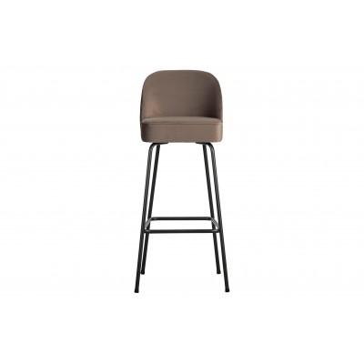 Baro kėdė Vogue, 80 cm, velvetas (pilkšvai ruda)