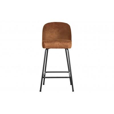 Baro kėdė Vogue, 65 cm, odinė (konjako)