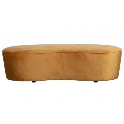 Maža sofa Macaroni, 165 cm, velvetas (garstyčių)