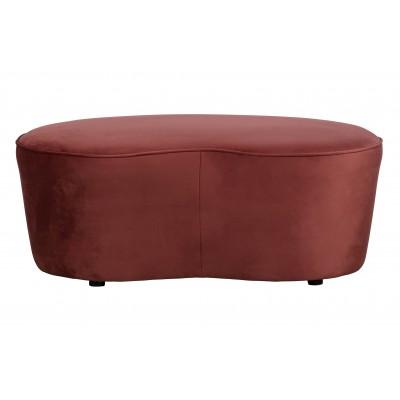 Maža sofa Macaroni, 110 cm, velvetas (kaštoninė)