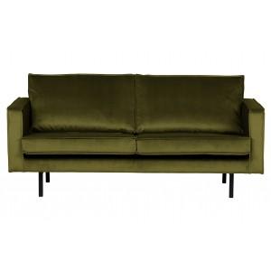 2.5 vietų sofa Rodeo, velvetas (alyvuogių žalia)