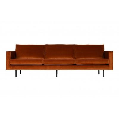 Trivietė sofa Rodeo, velvetas (rūdžių)