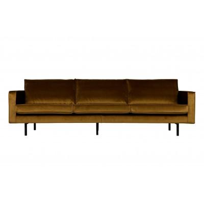 Sofa Rodeo, 3 vietų, velvetas (medaus geltona)