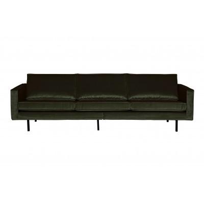 Trivietė sofa Rodeo, velvetas (tamsiai žalia)
