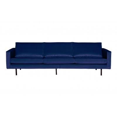 Trivietė sofa Rodeo, velvetas (tamsiai mėlyna)