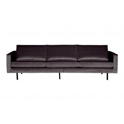 Trivietė sofa Rodeo, velvetas (antracito)