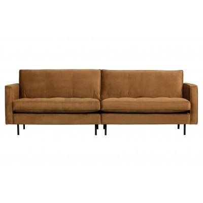 Klasikinė trivietė sofa Rodeo, velvetas (medaus geltona)