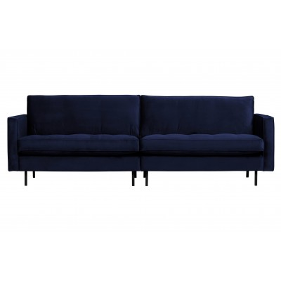 Klasikinė trivietė sofa Rodeo, velvetas (tamsiai mėlyna)