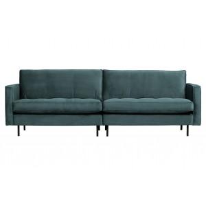 Klasikinė trivietė sofa Rodeo, velvetas (šviesiai pilka)
