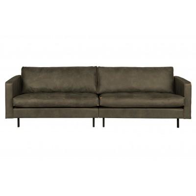 Klasikinė trivietė sofa Rodeo, velvetas (rusvai žalsva)