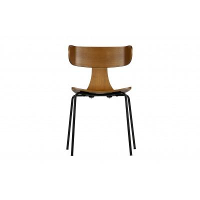 Medinė kėdė Form su metalinėmis kojelėmis (ruda), 2 vnt.