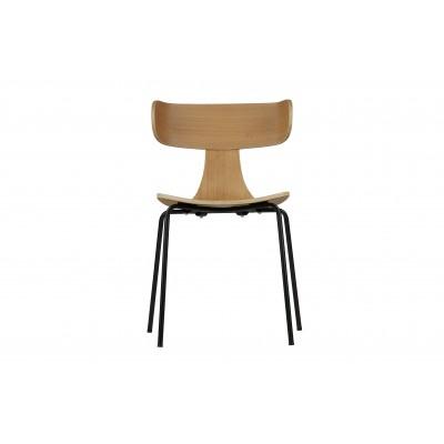 Medinė kėdė Form su metalinėmis kojelėmis (natūralios spalvos)