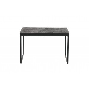 Kvadratinis šoninis staliukas Sharing (juoda)