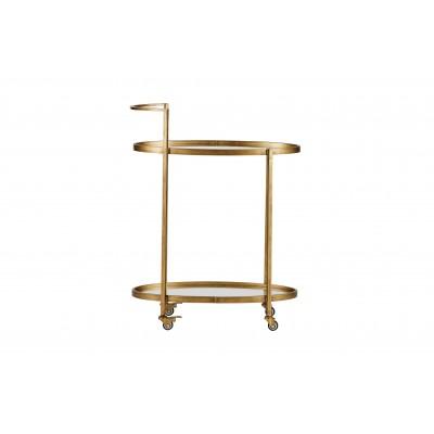 Metalinis vežimėlis Push (sendinto žalvario)