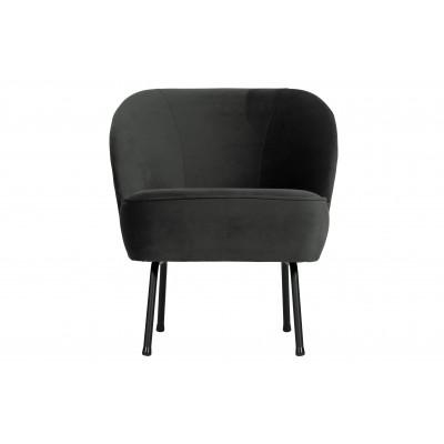 Fotelis Vogue, velvetas (juoda)