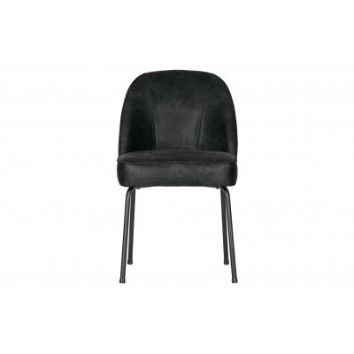 Valgomojo kėdė Vogue, odinė (juoda), 2 vnt.